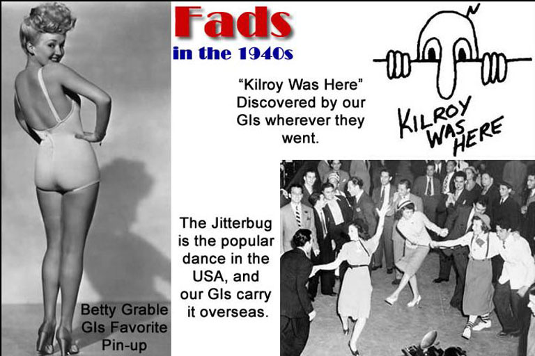 fads in the 1940s 1940s=no workouts for women guess what women's fitness trend swept the nation in the 1940s um, nothing not a workout in sight it's not surprising when you consider that in the '40s, many.