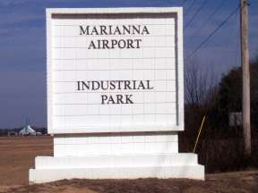 WWII Kilroy Was Here Marianna  Industrial Park Entrance Sign