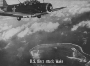 U. S. FLIERS ATTACK WAKE